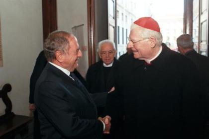 Colombo Clerici con Cardinale Scola